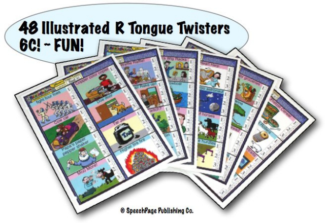 48 Illustrated  R Tongue Twisters 6C!