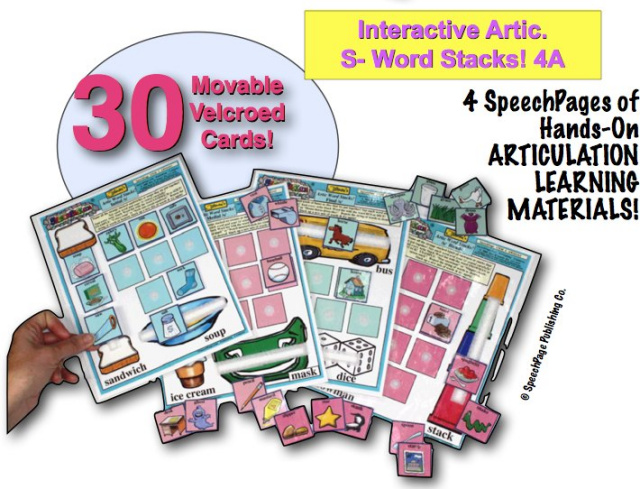 Interactive Artic. S- Word Stacks! 4A