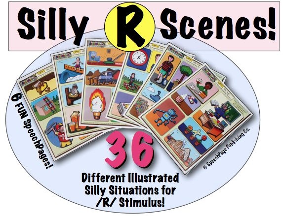 Silly Scene Talk Prompts 6A!  R-Themes