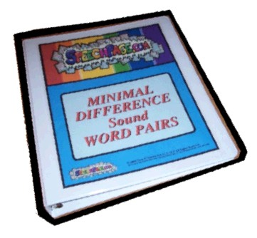 The 45 SpeechPage Min Dif Words Pair Binder Set!